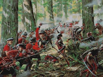 A Don Troiani painting depicting the highlander counterattack on Day 2.