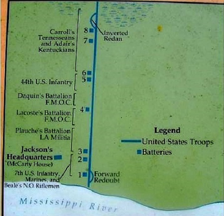 United States Map New Orleans.Battle Of New Orleans
